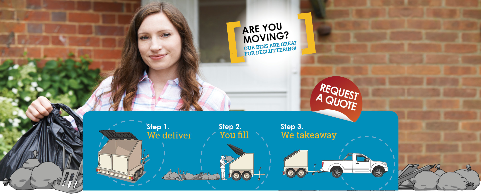 towaway trash, mobile bins, rubbish removal for moving house